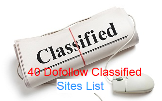 high pr dofollow classified sites